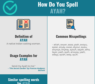 Correct spelling for ayah