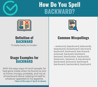 Correct spelling for backward