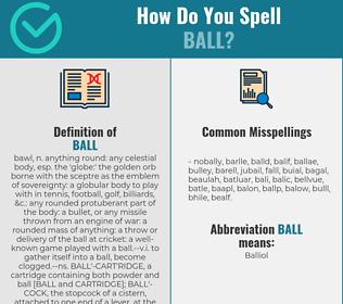 Correct spelling for ball