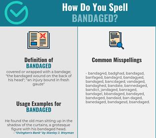 Correct spelling for bandaged
