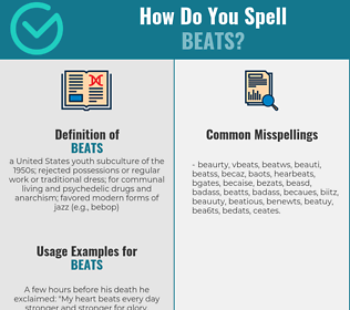 Correct spelling for beats