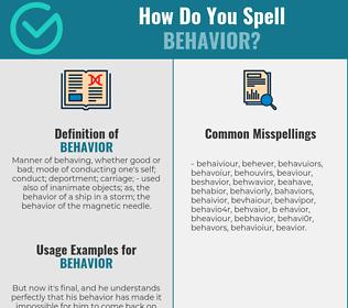 Correct spelling for behavior