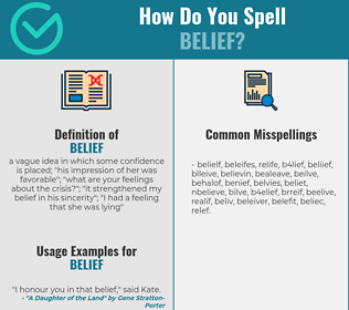 Correct spelling for belief
