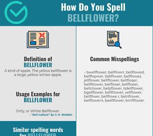 Correct spelling for bellflower