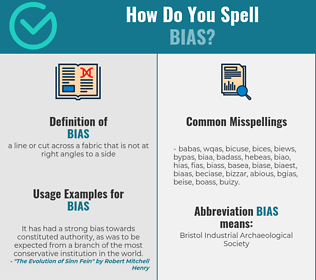 Correct spelling for bias