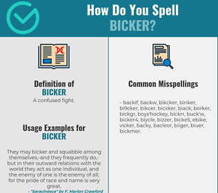 Correct spelling for bicker
