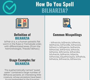 Correct spelling for bilharzia