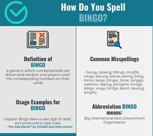 Correct spelling for bingo