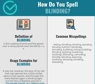 Correct spelling for blinding