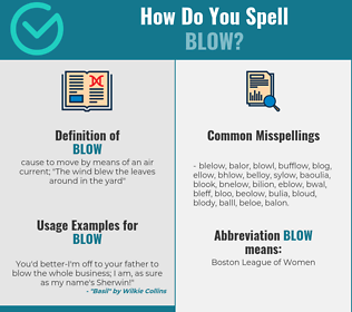 Correct spelling for blow
