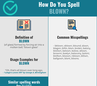 Correct spelling for blown