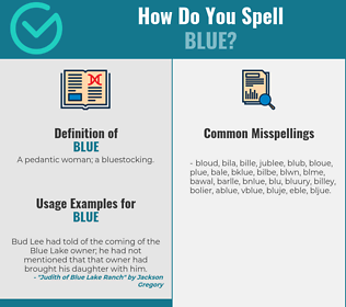 Correct spelling for blue
