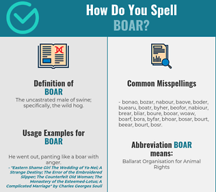 Correct spelling for boar