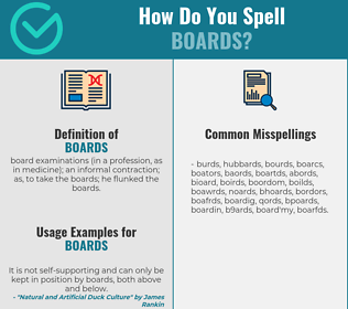 Correct spelling for boards