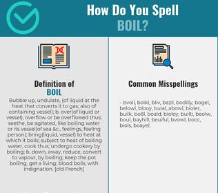 Correct spelling for boil