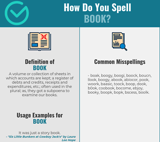 Correct spelling for book