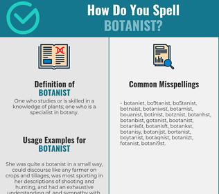 Correct spelling for botanist