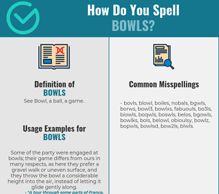 Correct spelling for bowls