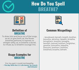 Correct spelling for breathe