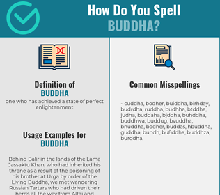 Correct spelling for buddha