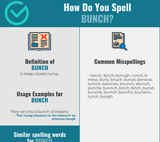 Correct spelling for bunch