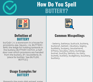 Correct spelling for buttery