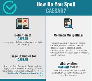 Correct spelling for caesar