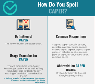 Correct spelling for caper