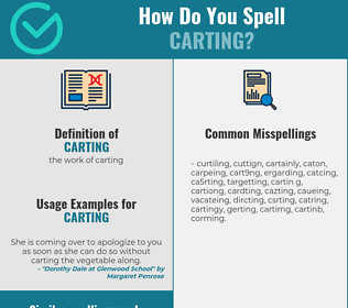 Correct spelling for carting