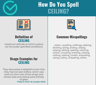 Correct spelling for ceiling