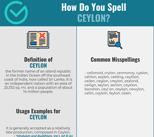 Correct spelling for ceylon