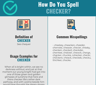 Correct spelling for checker