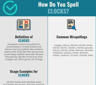 Correct spelling for clocks