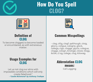 Correct spelling for clog