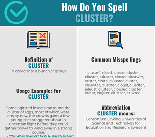 Correct spelling for cluster