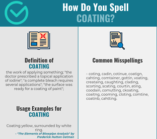 Correct spelling for coating