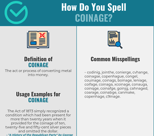 Correct spelling for coinage