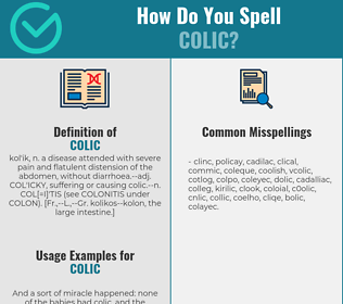 Correct spelling for colic