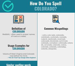 Correct spelling for colorado