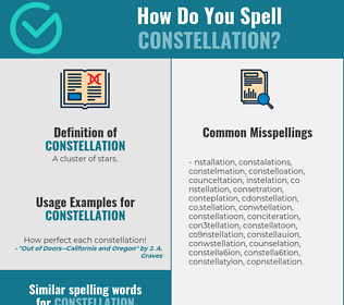 Correct spelling for constellation