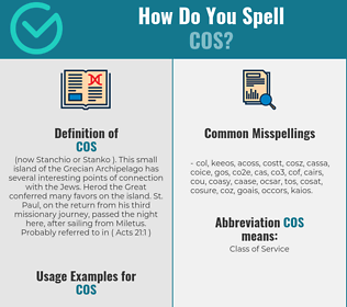 Correct spelling for cos
