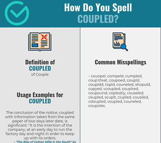 Correct spelling for coupled