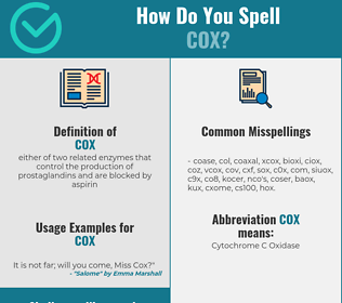 Correct spelling for cox