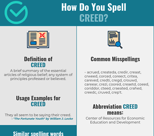 Correct spelling for creed