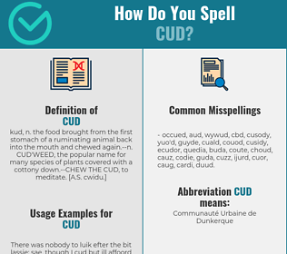 Correct spelling for cud