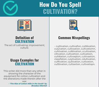 Correct spelling for cultivation