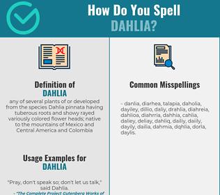Correct spelling for dahlia