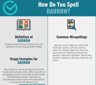 Correct spelling for darrow
