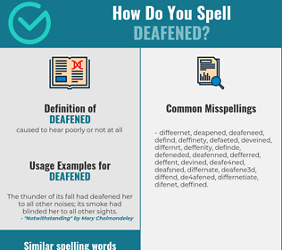 Correct spelling for deafened