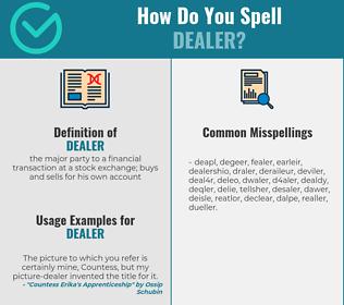Correct spelling for dealer